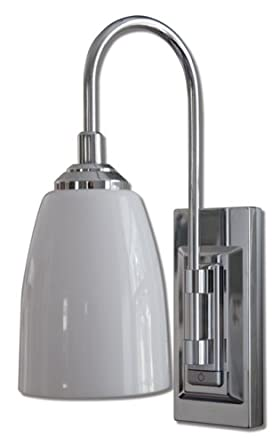 Rite Lite Lpl780c Battery Operated Led Classic Chrome Wall