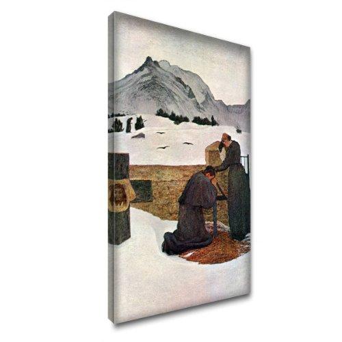 """""""The Pain Of Mourning"""" by Segantini, Impression Artistique Boîte de Tirage d'Art Toile Encadrée Décor Art. Taille 20"""" x 34"""" - 51 x 86 cm."""