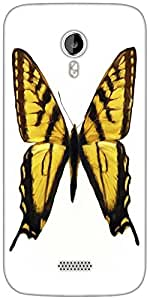 Snoogg digital painting of a butterfly Designer Protective Back Case Cover For Micromax A116