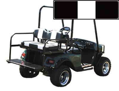 SEAT CUSHION SET,BLACK/WHTE,FRONT,Yamaha Golf Cart G9