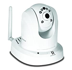 TRENDnet Megapixel Wireless N Pan, Tilt, Zoom Network Surveillance Camera with 2-Way Audio and Night Vision, TV-IP672WI (White)