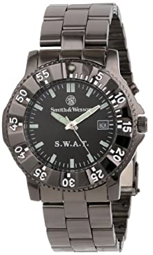 buy Smith & Wesson Men'S Sww-45M S.W.A.T. Black Metal Strap Watch