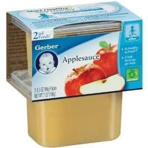 Amazon Com Gerber 2nd Foods Baby Foods Sitter Applesauce