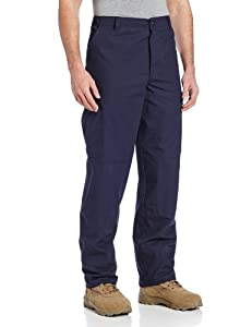 TRU-SPEC Men's Rip Stop BDU Pant, Navy, Medium Short