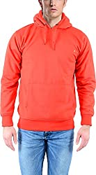 vibgyor Men's Cotton Sweatshirt (VSWFQRDWOBN_40, Red, 40)