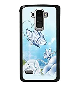 printtech Butterfly Pearls Back Case Cover for LG G4 Stylus ,Versions: H631 (T-Mobile); MS631 (Metro PCS); H635 (EMEA); H540 (UAE); H630D (India); H542 (Mexico)