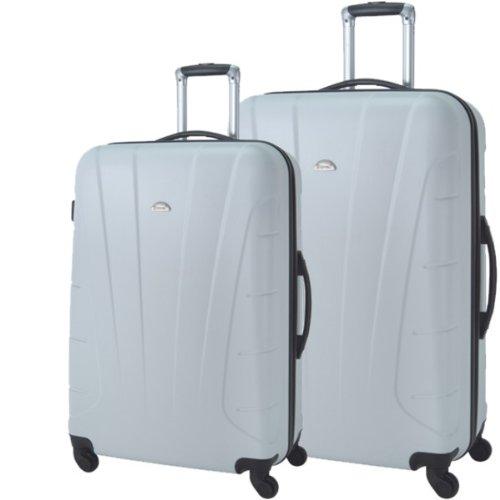 Reisetrolley Koffer weiß Hartschale 2-teiliges