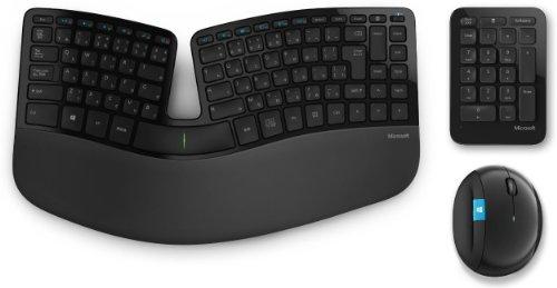 マイクロソフト キーボード ワイヤレスマウスセット人間工学デザイン Scul...