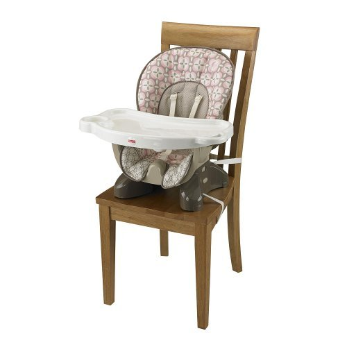 Fisher-Price SpaceSaver High Chair - Pink Lattice - 1