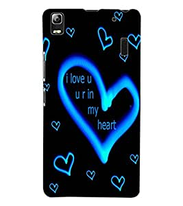ColourCraft Love Quote with Image Design Back Case Cover for LENOVO A7000 TURBO