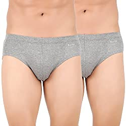 Lavos Mens Grey Brief -(Pack of 2) (Small)