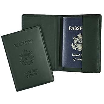 Debossed Leather Passport Holder