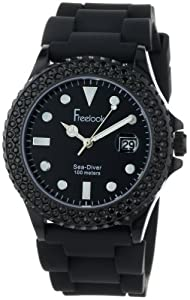 Freelook Men's HA1433B-1 Sea Diver Jelly Black with Black Crystal Bezel Watch
