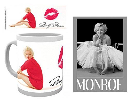 Set: Marilyn Monroe, Lipstick Photo Coffee Mug (4x3 inches) And 1 Marilyn Monroe, Postcard (6x4 inches) (Marilyn Monroe Coffee Mug Set compare prices)