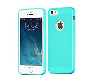 Egotude® Silicon Soft Back Cover For Apple iPhone 5 & 5S SE - Mint Green