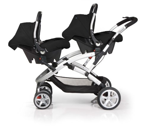 Obaby Apollo Black /& Grey Twin Stroller Red
