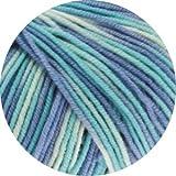 Lana Grossa Wolle Cool Wool 2000 728 Himmelblau/Türkis/Natur