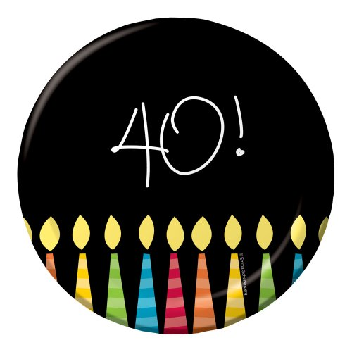 Creative Converting 8 Count Paper Lunch Plates, Great Birthday 40th