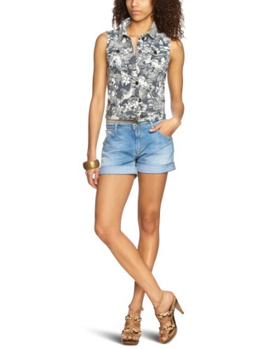 Khujo Hommes Manches Courtes Shirt Tile Aqua T-shirt Urban-Look Casual Soldes 60/%!