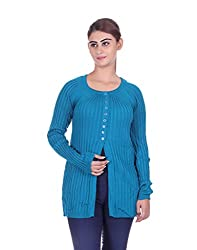 eWools Women's Light Blue Wool Sweater (781-eWools-Medium)