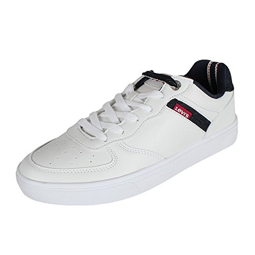Levis 223697 51 Jeffrey Denim Sneaker regular white, Schuhe Herren:43