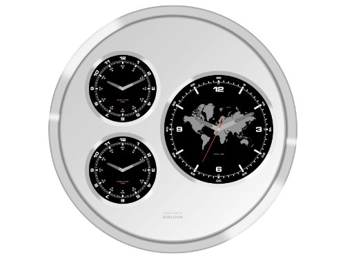 Karlsson Wall Clock Big Tic World Time 60 cm Diameter