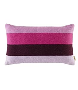 Striped Alpaca Throw Pillow in Pink