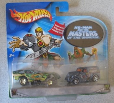 Hot Wheels He-Man And The Masters Of The Universe 2 Car Set: Funny Car Ford Anglia Panel 1:64 Scale - 1