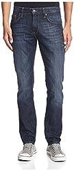 Mavi Men's Jake Regular Rise Slim Leg Jeans, Rinse Used Italy, 38x32 US