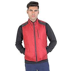 Bongio Men's Zipped Reversible Sleeve-Less Jacket_RMW5A14003A (Medium)