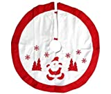 """Imperial Home Christmas Tree Skirt 36"""" - Red & White"""
