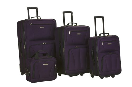 Rockland Luggage 4 Piece Set, Purple, One Size reviews