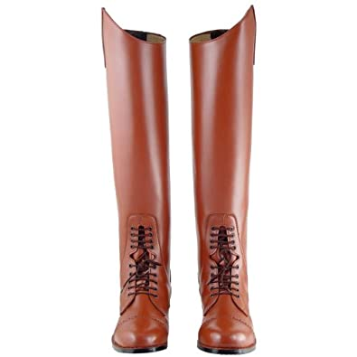 Victory Ladies Field Boots tall english riding TAN All Sizes Available, Color:Tan Calf:Custom, 6