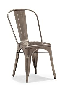 Zuo Elio Dining Chair Gunmetal (set of 2)