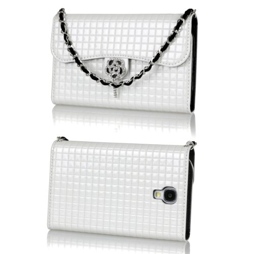 Ihand Handbag Clutch Wallet Case With Bling For Samsung Galaxy S4 Siv S Iv I9500 [Retail Package] - Ivory