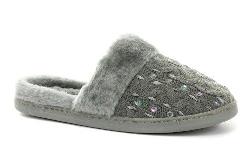 Cheap Dunlop Holly Grey Womens Slipper Mules (B005PN80GI)
