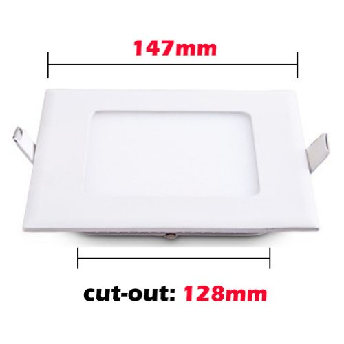 Sunsbell®Indoor Led Panel Light With Led Driver 9W Panel Recessed Down Light Warm White Widely Used In Kitchen Washing Room Dinning Room Lighting Works