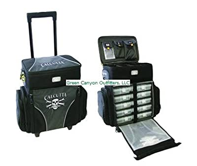 Calcutta CT3010WC Rolling Tackle Bag with Five Removable 360 Tackle Trays, Medium