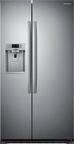 SAMSUNG RS22HDHPNSR Counter-Depth Side by Side Refrigerator, 22.3 Cubic Feet, Stainless Steel (Samsung Freeze compare prices)