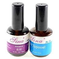2pcs UV Top Coat Primer Base Gel Nail…