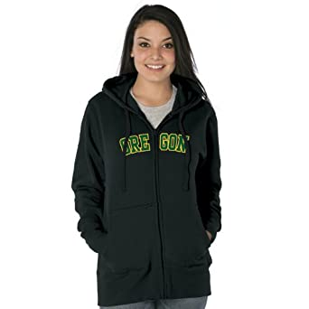 NCAA Oregon Ducks Ladies Franchise Redux Cotton Sueded Hooded Sweatshirt by Ouray Sportswear