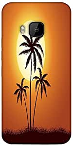 Snoogg Vector Summer Illustration With Palm Trees Designer Protective Back Ca...