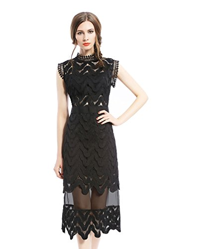 tuliplazza-women-zigzag-tunic-sheath-cocktail-prom-party-gowns-midi-lace-dressblackx-small