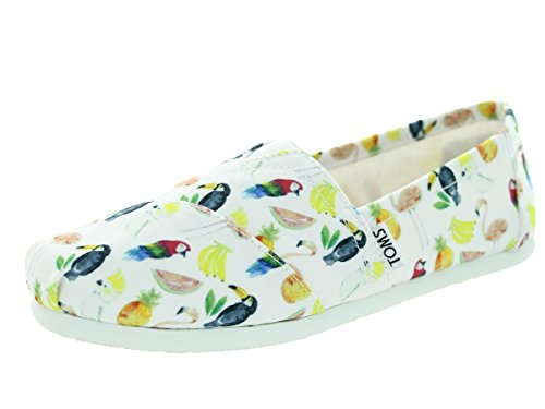 Details for Toms Women's Classic White Printed Parrots Casual Shoe 10 Women US