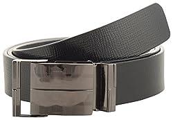 Jackblack Men's Leather Belt (SEVP028, Black, 32)