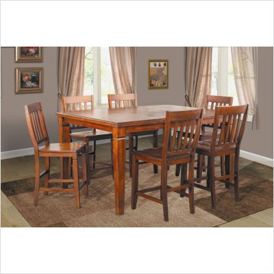 Buy Low Price Lifestyle California Avery Counter Height Dining Table in Distressed Cherry (32-749C)