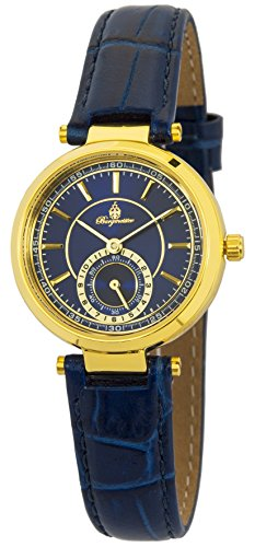Burgmeister Women's Quartz Watch with Blue Dial Analogue Display and Blue Leather Bracelet BM336-233