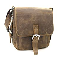 "Vagabond Traveler 12"" Casual Style Leather Messenger iPad Bag L89"