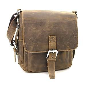 "Vagabond Traveler 12"" Casual Style Leather Messenger iPad Bag L89"