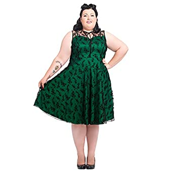 voodoo vixen penny net flowers robe grande taille ann es 50 vert v tements et. Black Bedroom Furniture Sets. Home Design Ideas